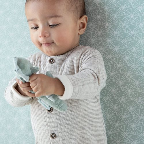 Afbeelding van Hoeslaken 70x140/150 Lily Leaves Mint