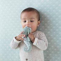 Drap-housse lit bébé Lily Leaves Mint