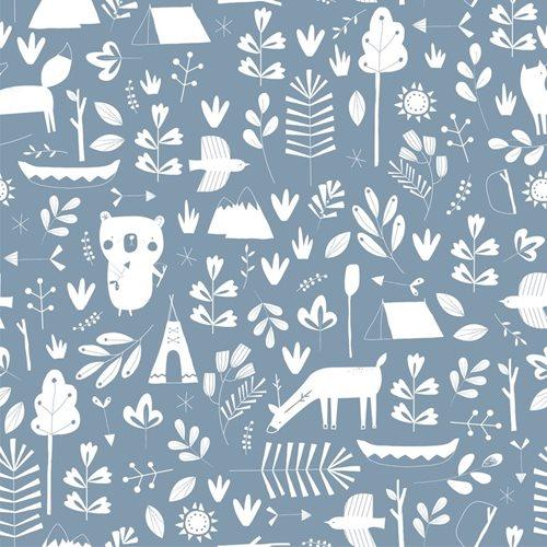 Papier peint intissé intissé Adventure blue