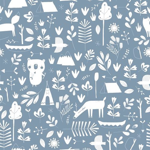 Picture of Wall paper - adventure blue