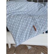 Picture of Cot blanket cover Lily Leaves Blue
