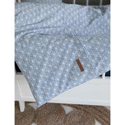 Housse de couette lit bébé Lily Leaves Blue