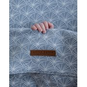 Picture of Bassinet blanket cover Lily Leaves Blue
