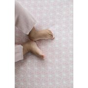 Drap-housse 70x140/150 Lily Leaves Pink