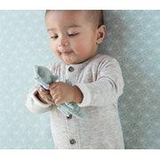 Drap-housse berceau Lily Leaves Mint