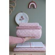 Kinderbettdecke Lily Leaves Pink
