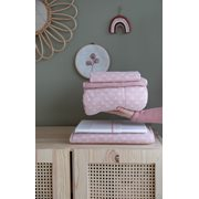 Picture of Bassinet blanket Lily Leaves Pink