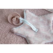 Doudou attache-sucette Lily Leaves Pink