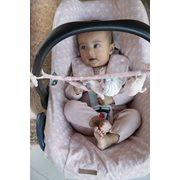 Housse de protection pour siège-auto 0+ Lily Leaves Pink