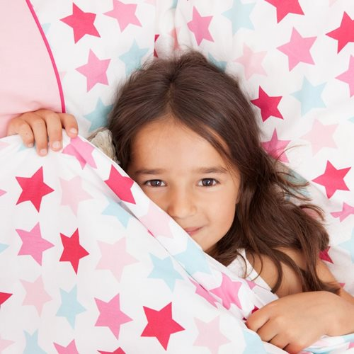 Picture of Cot duvet cover Mixed Stars Pink