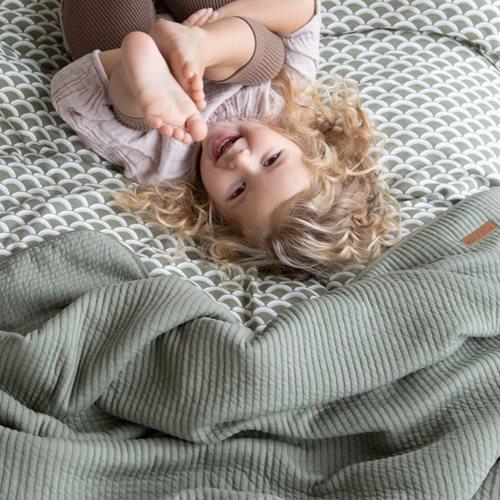 Kinderbettbezug Sunrise Olive