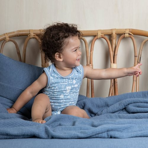 Kinderbettbezug Pure Blue