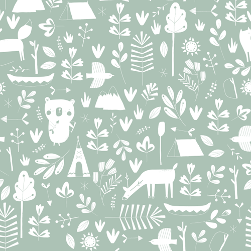 Picture of Wallpaper sample - Adventure Mint