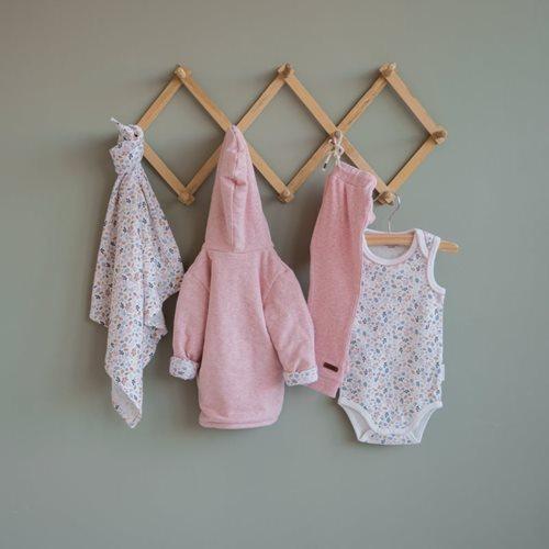 Baby-Jacke 68, Pink Melange - Spring Flowers