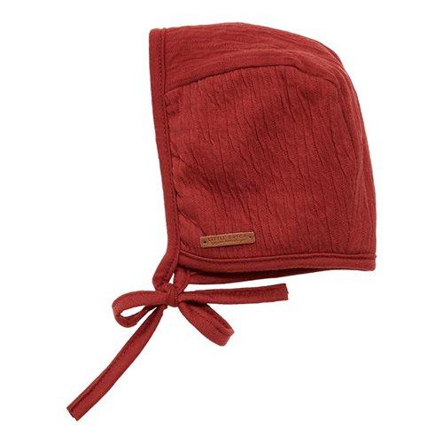 Afbeelding van Babymuts met touwtjes Pure Indian Red