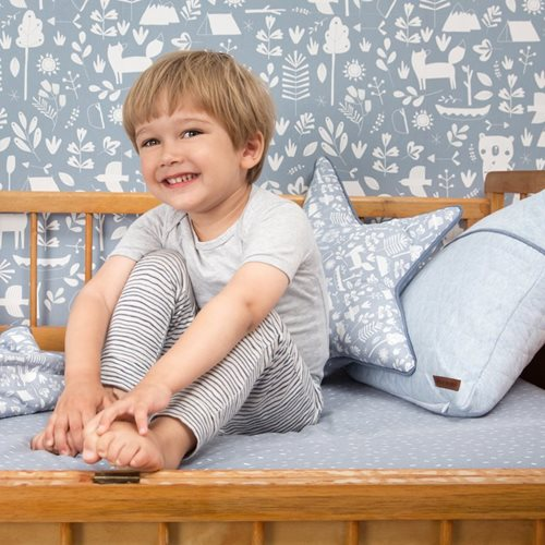 Picture of Single fitted sheet Blue Sprinkles