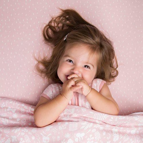 Kinderbettdecke Adventure Pink