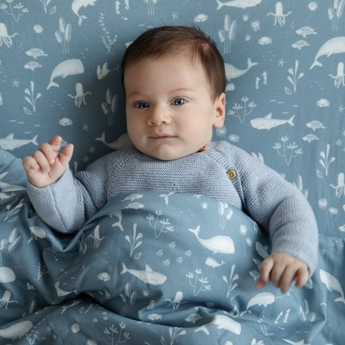 Couverture de lit bébé Ocean Blue