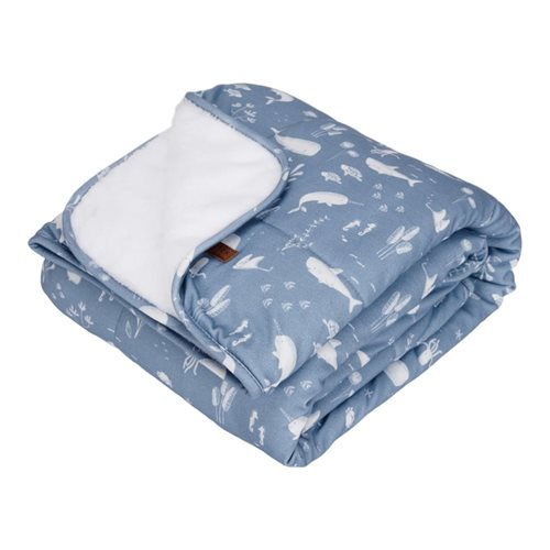 Picture of Cot blanket Ocean Blue