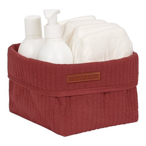 Panier de toilette petit Pure Indian Red