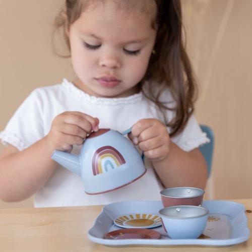 Service à thé avec panier Rainbow