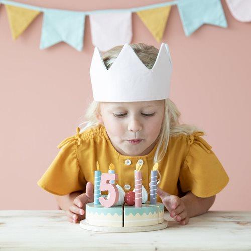 Afbeelding van Houten verjaardagstaartje - 26-delig