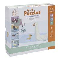 Afbeelding van 4 in 1 puzzel Little Goose