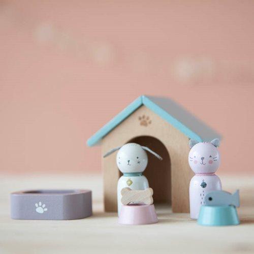 Afbeelding van Poppenhuis speelset Huisdieren