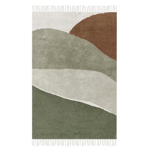Afbeelding van Vloerkleed Horizon Olive 130x90cm
