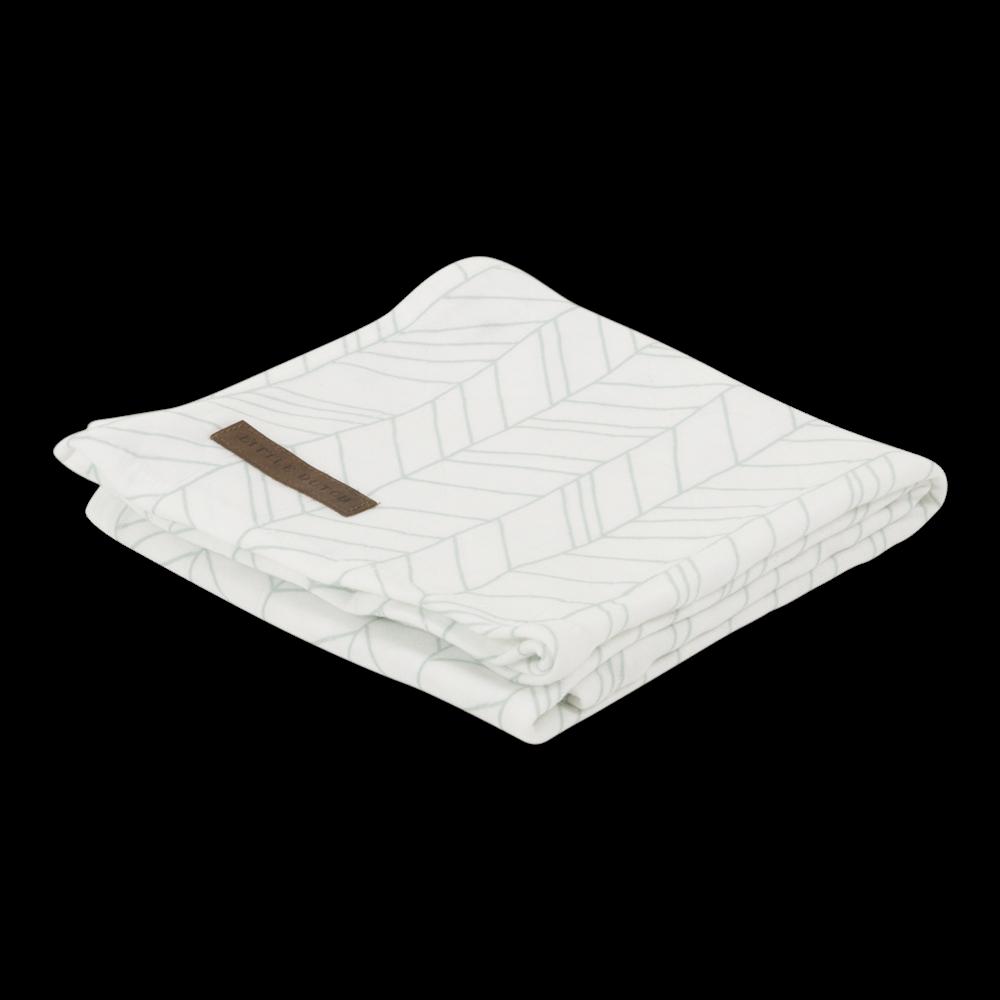Maxi-lange swaddle 120 x 120 White/Mint Leaves