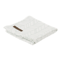 Musselintuch Swaddle 120 x 120 White/Mint Leaves