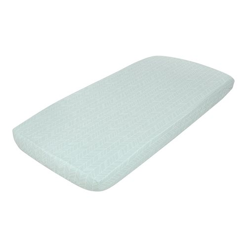 Picture of Single fitted sheet Mint Leaves