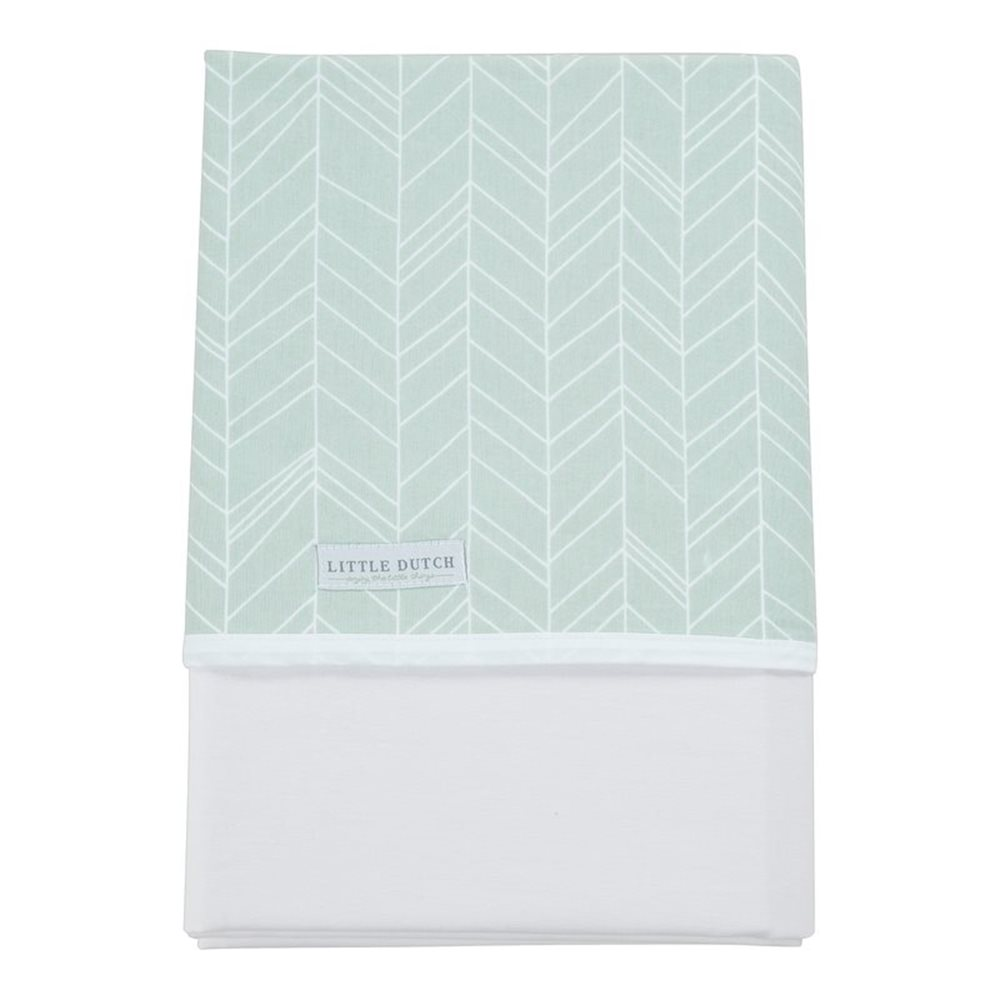 Picture of Cot sheet Mint Leaves