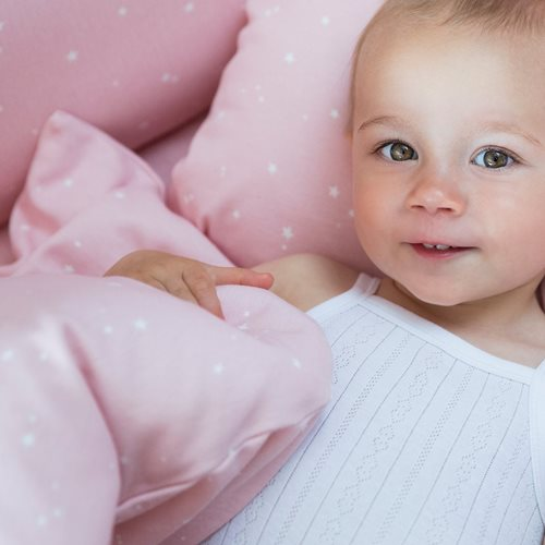 Picture of Cot sheet Little Stars Pink