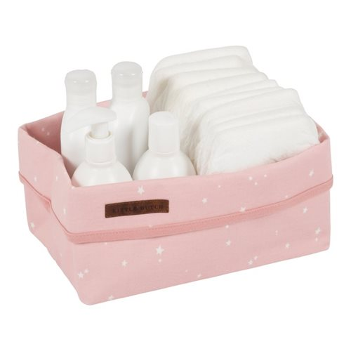 Picture of Storage basket, large Little Stars Pink
