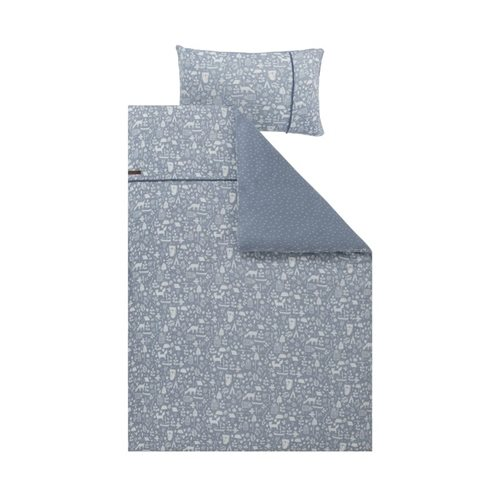 Picture of Single duvet cover Adventure Blue