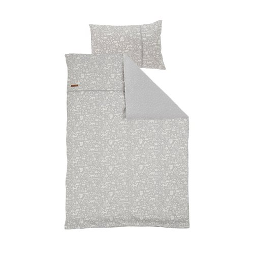 Housse de couette lit simple Adventure Grey