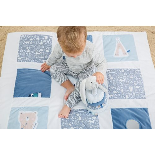 Picture of Playpen mat 85 x 100 Adventure blue