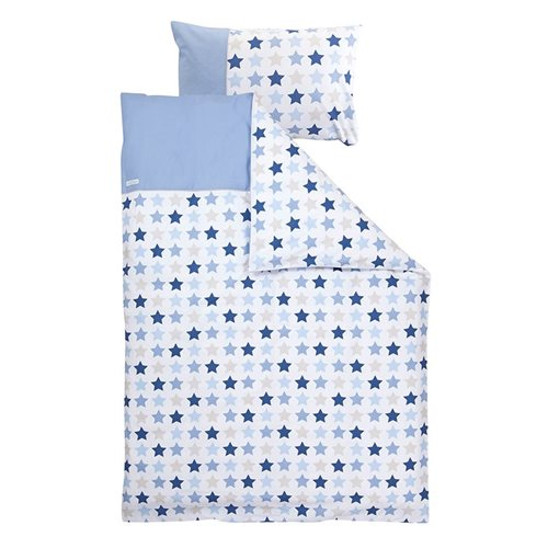 Picture of Cot blanket cover Mixed Stars Blue