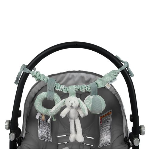 Picture of Stroller toy chain rabbit mint
