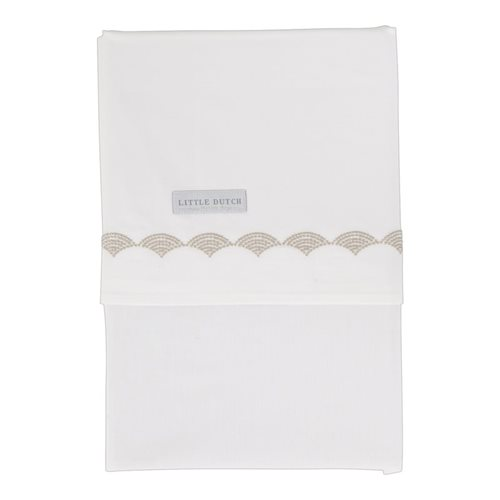 Picture of Cot sheet Beige Waves embroidered