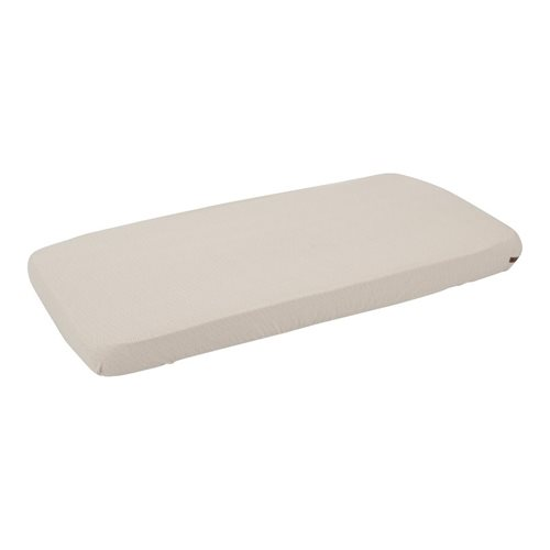 Picture of Single fitted sheet Beige Waves