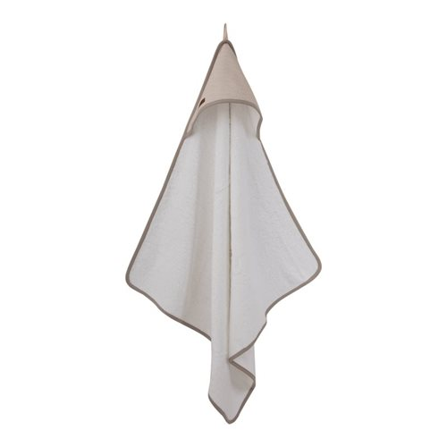 Picture of Hooded towel Beige Waves