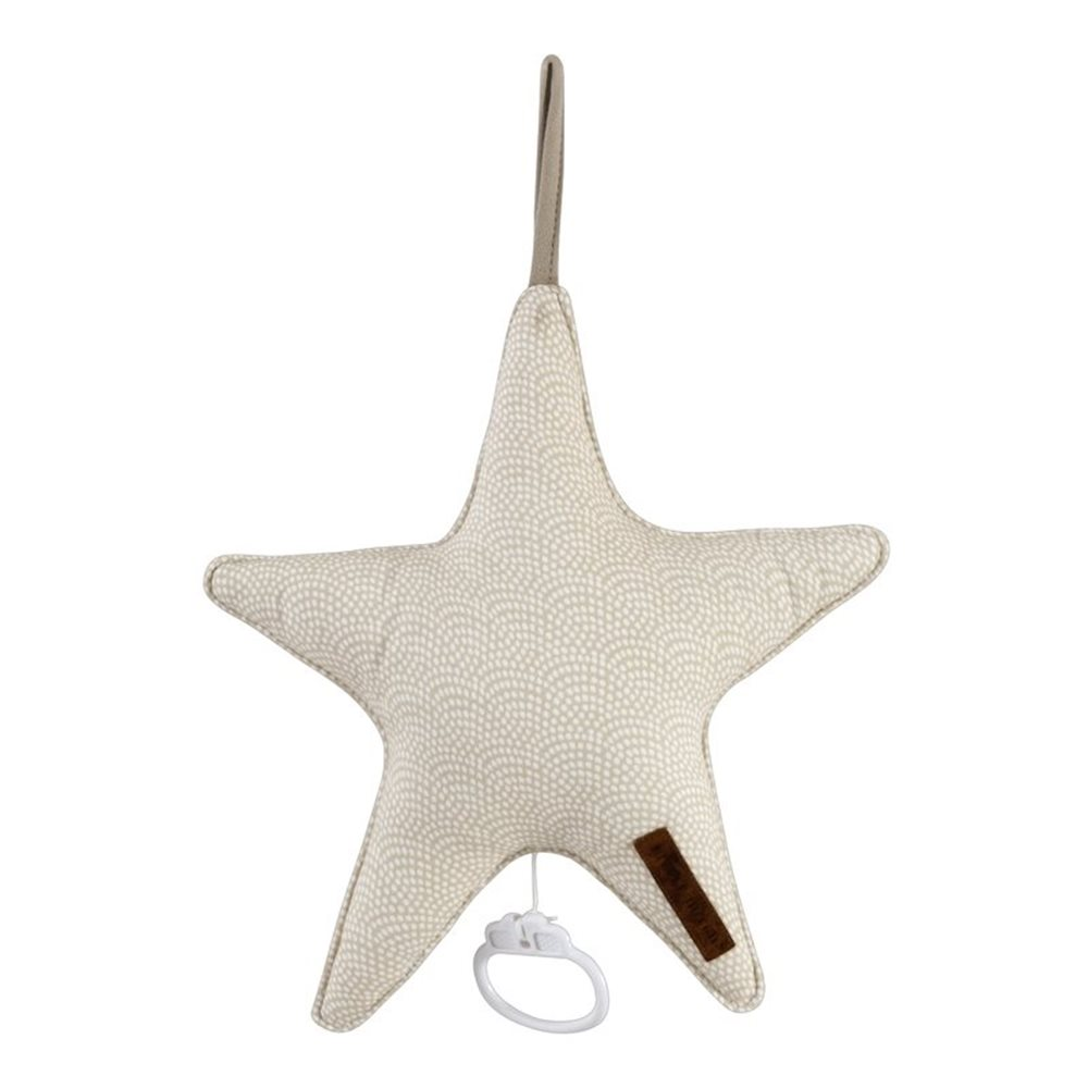 Picture of Star-shaped music box Beige Waves