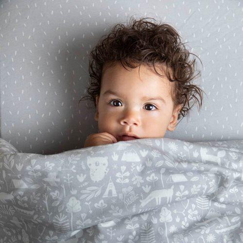 Housse de couette lit bébé Adventure Grey