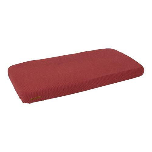 Afbeelding van Eenpersoonshoeslaken Pure Indian Red