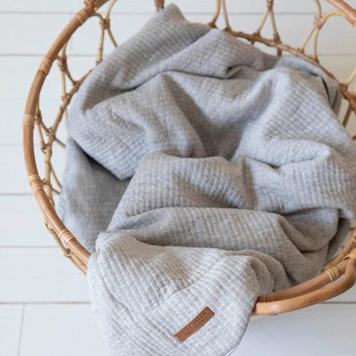 Picture of Cot blanket Pure Grey