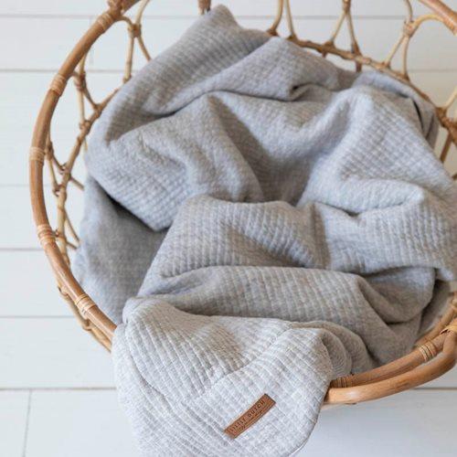 Couverture de lit bébé Pure Grey