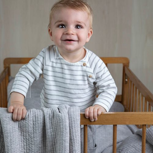 Picture of Cot summer blanket Pure Grey