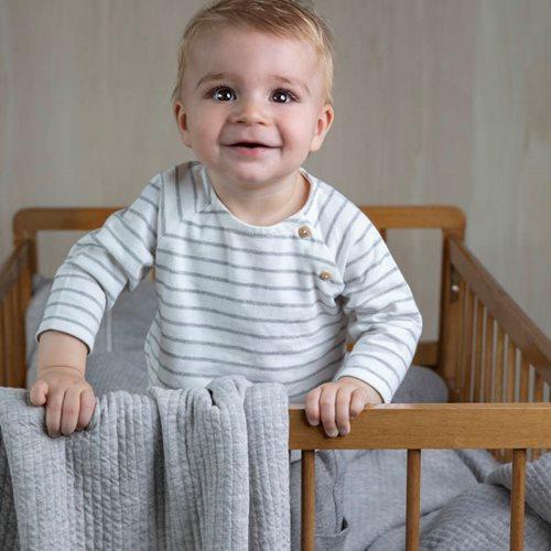 Sommerdecke Kinderbett Pure Grey